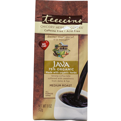 TEECCINO - CHICORY HERBAL COFFEE - CAFFEINE & ACID FREE - (Java | Medium Roast) - 11oz