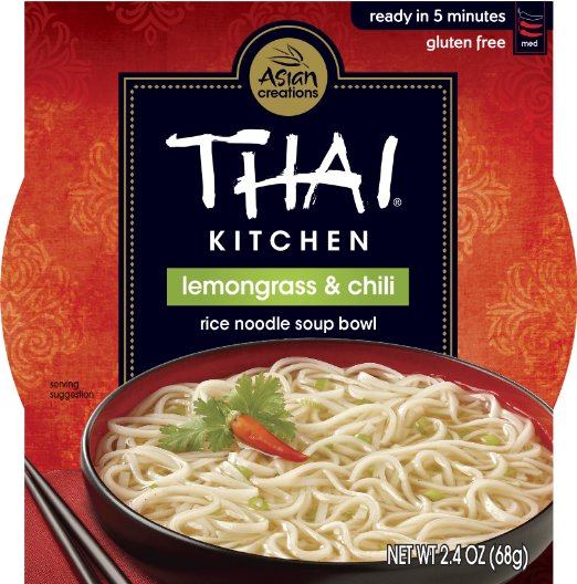 THAI KITCHEN - RICE NOODLE SOUP BOWL - GLUTEN FREE - LEMONGRASS & CHILI - 2.4oz