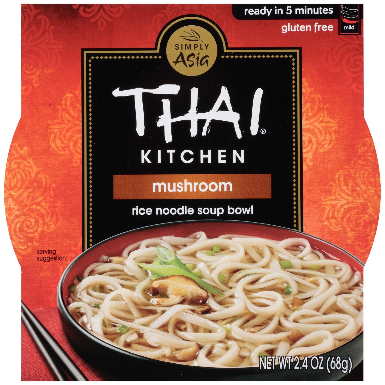 THAI KITCHEN - RICE NOODLE SOUP BOWL - GLUTEN FREE -MUSHROOM - 2.4oz