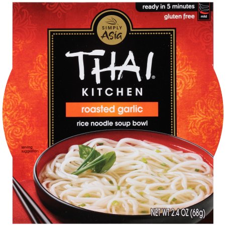 THAI KITCHEN - RICE NOODLE SOUP BOWL - GLUTEN FREE - ROASTED GARLIC - 2.4oz