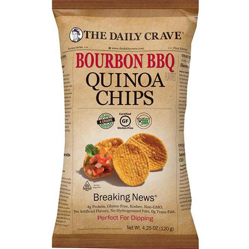 THE DAILY CRAVE - QUINOA CHIPS (Bourbon BBQ) - 4.25oz