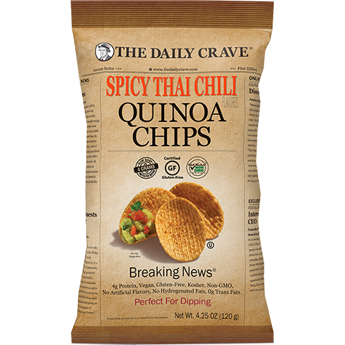 THE DAILY CRAVE - QUINOA CHIPS (Spicy Thai Chili) - 4.25oz