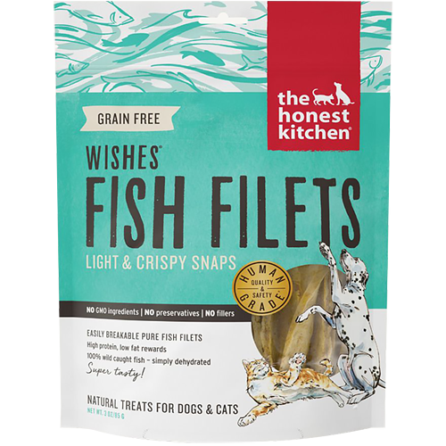 THE HONEST KITCHEN - WISHES FISH FILETS - (Light & Crispy Snaps) - 3.25oz