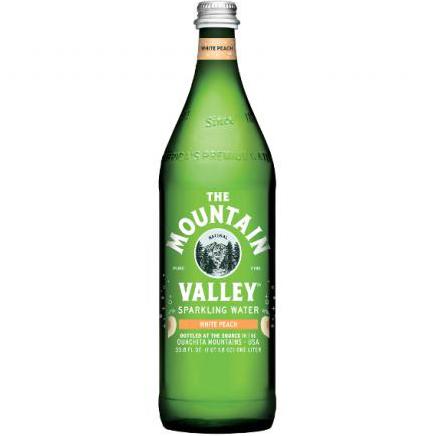 THE MOUNTAIN VALLEY - SPARKLING WATER - (White Peach) - 33.8oz