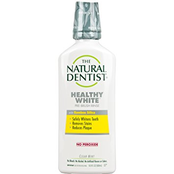 THE NATURAL DENTIST - HEALTHY WHITE MOUTHWASH /W BAMBOO SILICA - (Clean Mint) - 16.9oz