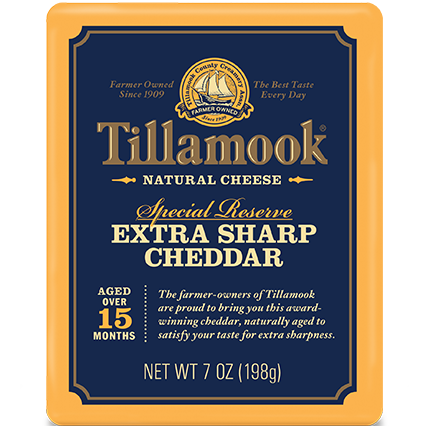 TILLAMOOK - EXTRA SHARP CHEDDAR NATURAL CHEESE - 7oz