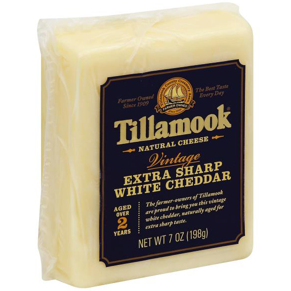 TILLAMOOK - EXTRA SHARP WHITE CHEDDAR NATURAL CHEESE - 8oz