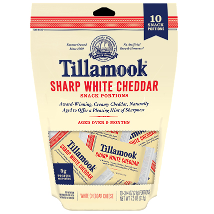 TILLAMOOK - SHARP WHITE CHEDDAR - SNACK PORTIONS - 10.75oz