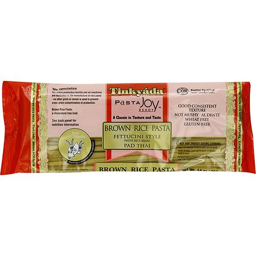 TINKYADA - PASTA JOY - BROWN RICE PASTA - (Fettuccini Tyle (/w Rice Bran) Pad Thai) - 12oz