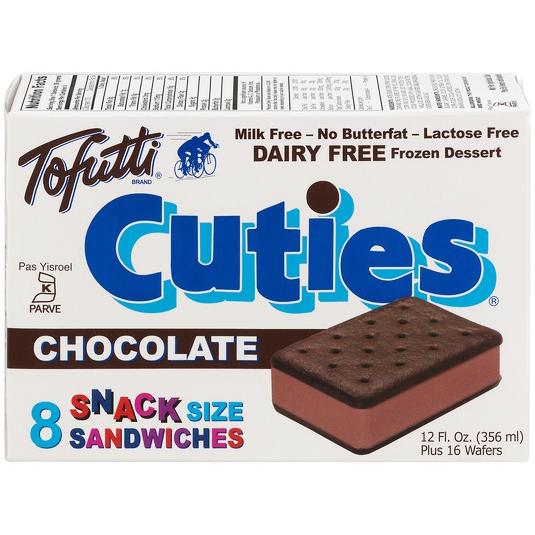 TOFUTTI - CUTIES - DAIRY FREE - (Chocolate) - 12oz