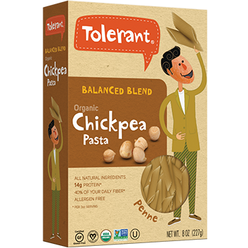 TOLERANT - BALANCED BLEND ORGANIC CHICKPEA PASTA - (Penne) - 8oz