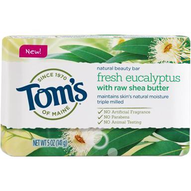 TOM'S - NATURAL BEAUTY BAR - (Fresh Eucalyptus) - 5oz