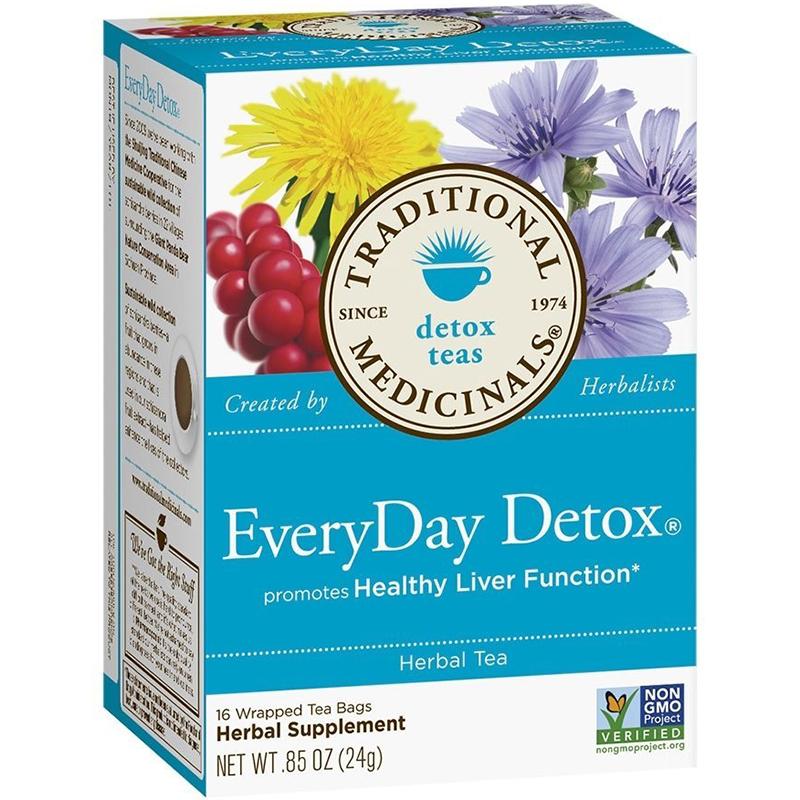 TRADITIONAL MEDICINALS - NON GMO - (Everyday Detox) - 16 Tea Bags