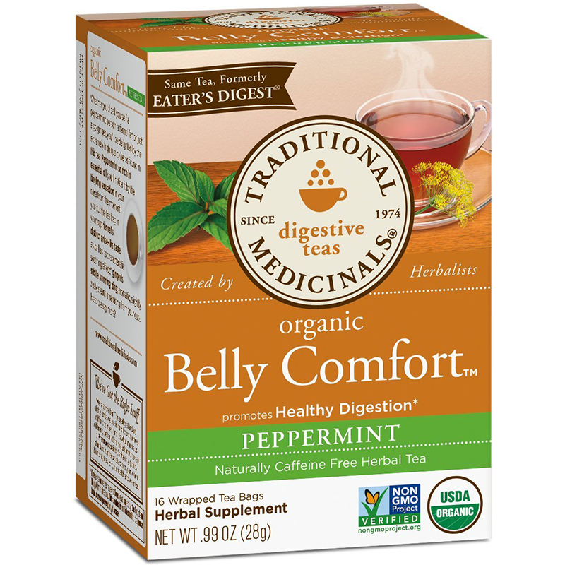 TRADITIONAL MEDICINALS - ORGANIC - NON GMO - (Belly Comfort | Peppermint) - 16 Tea Bags
