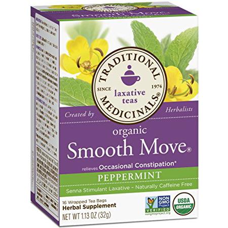 TRADITIONAL MEDICINALS - ORGANIC - NON GMO - (Smooth Move | Peppermint) - 16 Tea Bags