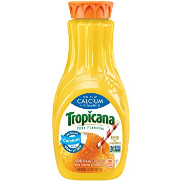 TROPICANA - 100% ORANGE JUICE - NON GMO - (Calcium) - 59oz