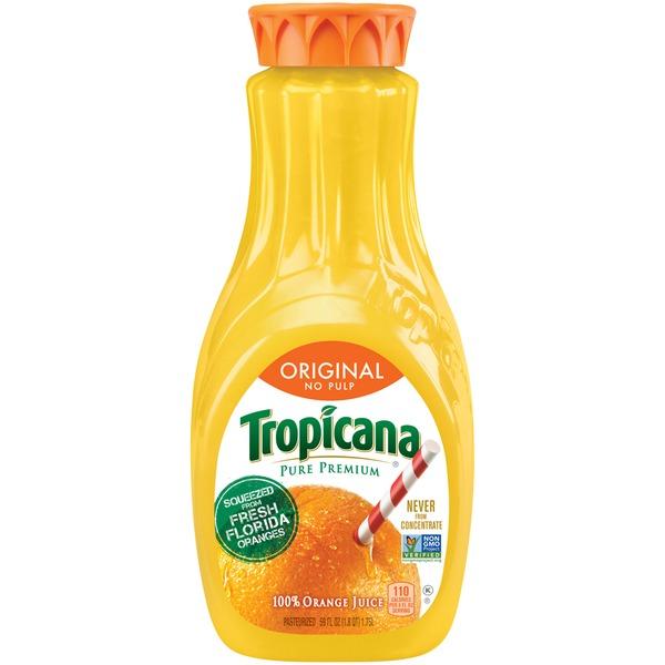 TROPICANA - 100% ORANGE JUICE - NON GMO - (Original) - 59oz