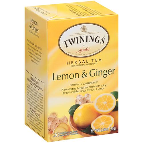 TWININGS - 100% PURE HERBAL TEA - (Lemon Ginger) - 20bags