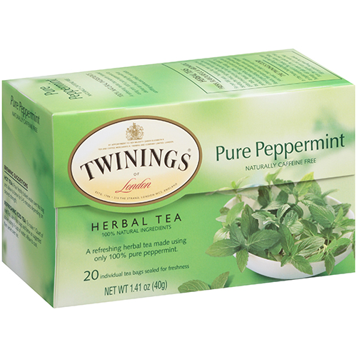 TWININGS - 100% PURE HERBAL TEA - (Pure Peppermint) - 20bags
