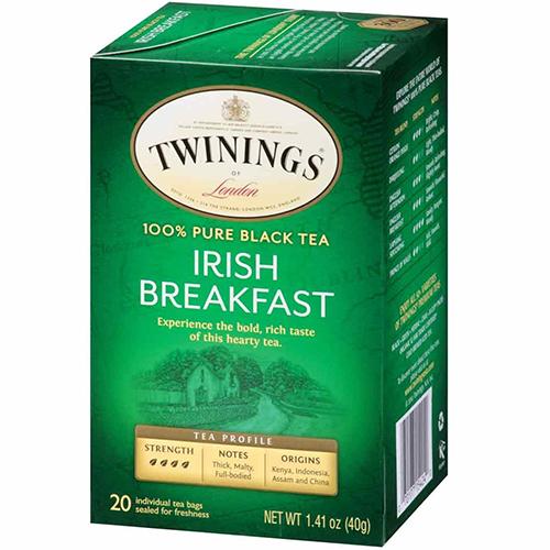 TWININGS - BLACK TEA - (IRISH Breakfast) - 20bags