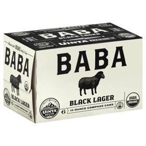 UINTA - BABA BLACK LAGER- (Can) - 12oz(6PK)