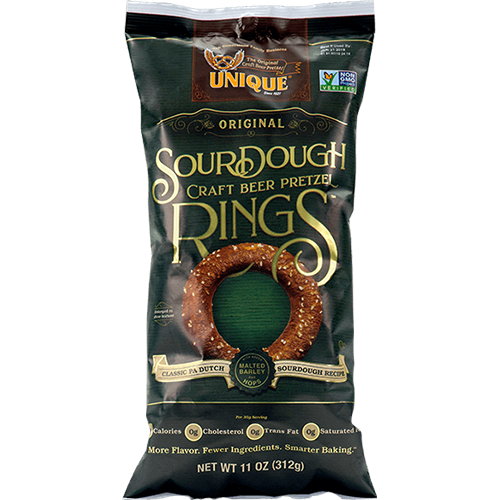UNIQUE - SOUR DOUGH RINGS CRAFT BEER PRETZEL - 11oz