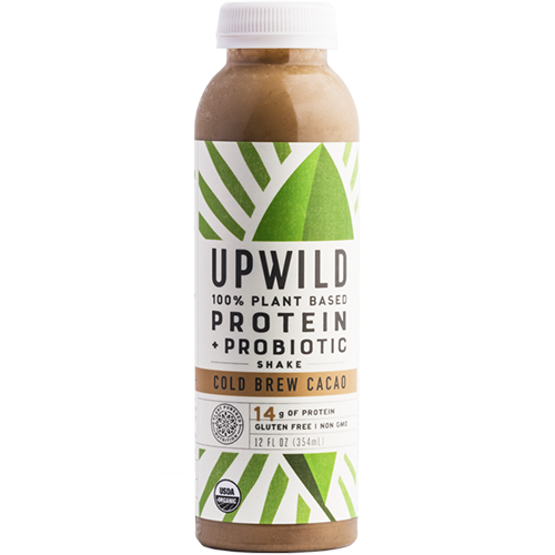 UPWILD - 100% PLANT BASED PROTEIN PROBIOTIC SHAKE - (Cold Brew Cacao) - 6oz