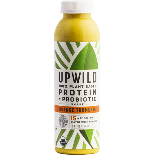 UPWILD - 100% PLANT BASED PROTEIN PROBIOTIC SHAKE - (Orange Turmeric) - 6oz
