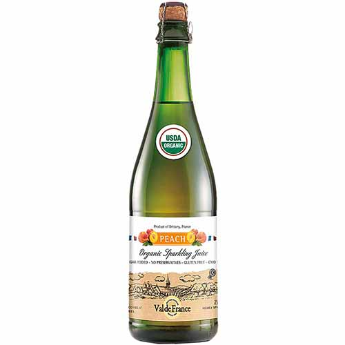 VAL DE FRANCE - ORGANIC FLAVORED SPARKLING JUICE - (Apple Peach) - 25.4oz