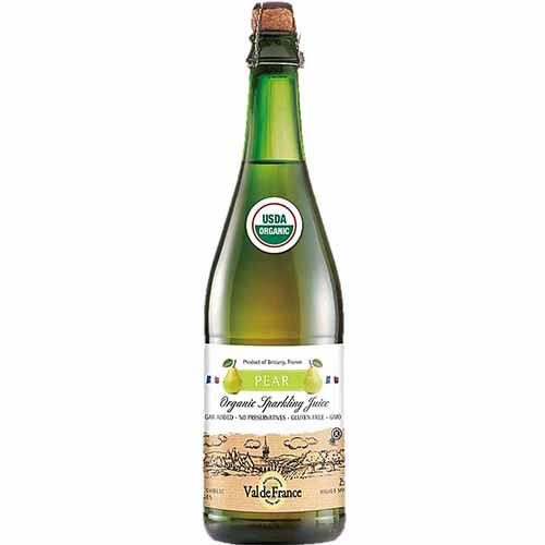 VAL DE FRANCE - ORGANIC FLAVORED SPARKLING JUICE - (Apple Pear) - 25.4oz
