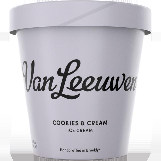 VAN LEEUWEN - (Cookie & Cream) - 14oz