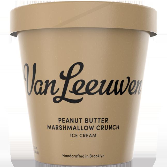 VAN LEEUWEN - (Peanut Butter Marshmallow Crunch) - 14oz