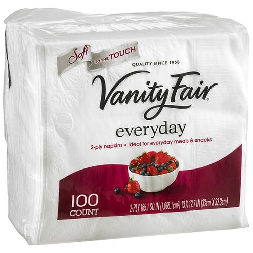 VANITY FAIR - EVERYDAY NAPKINS - 100counts