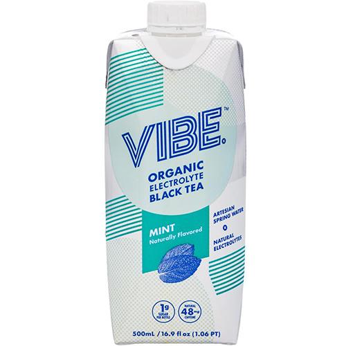VIBE - ORGANIC ELECTROLYTE BLACK TEA (Mint) - 16.9oz