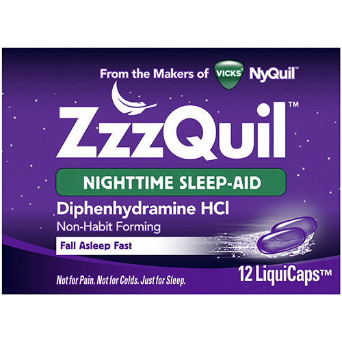 VICKS - ZzzQUIL - (Nighttime Sleep Aid) - 12LIQUICAPS