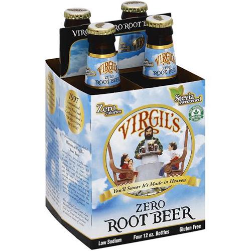 VIRGIL'S ZERO ROOT BEER - 12oz(4PCK)