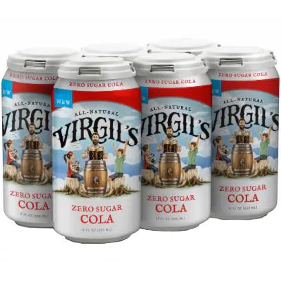 VIRGIL'S - ZERO SUGAR COLA - 12oz - 6CANS