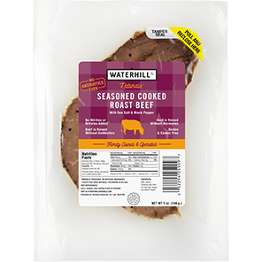 WATERHILL - SEASONED COOKED ROAST BEEF - GLUTEN FREE - 5oz