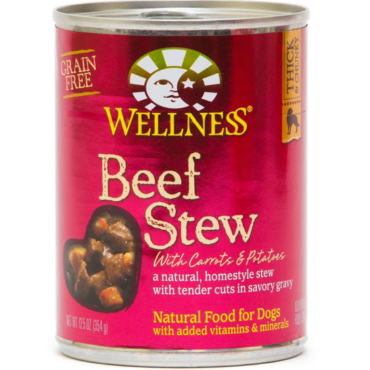 WELLNESS - BEEF STEW - (/w Carrot & Tomatoes) - 12.5oz