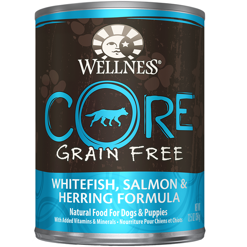 WELLNESS - GRAIN FREE - (Whitefish Salmon & Herring Formula) - 12.5oz