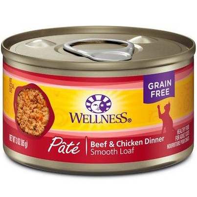 WELLNESS - HEALTHY FOOD FOR ADULT CATS - (Beef & Chicken Dinner) - 3oz