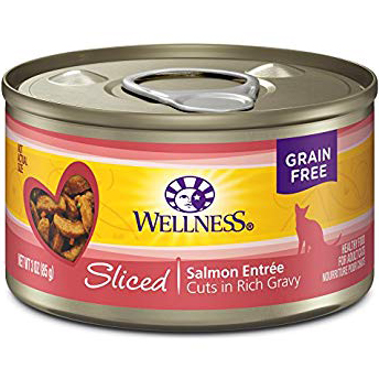 WELLNESS - HEALTHY FOOD FOR ADULT CATS - (Salmon Entree) - 3oz
