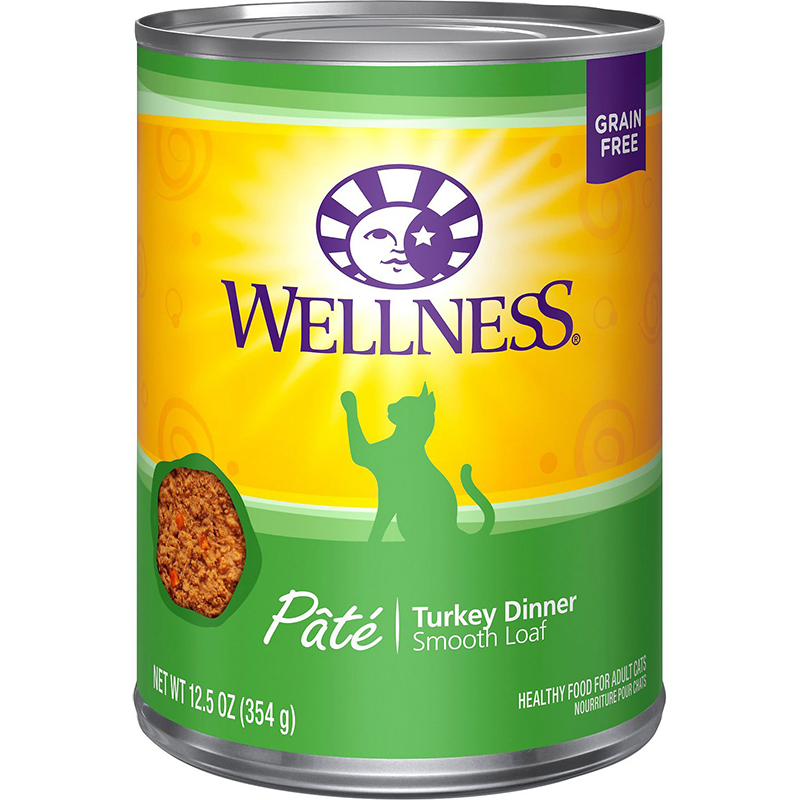 WELLNESS - HEALTHY FOOD FOR ADULT CATS - (Turkey Dinner) - 12.5oz