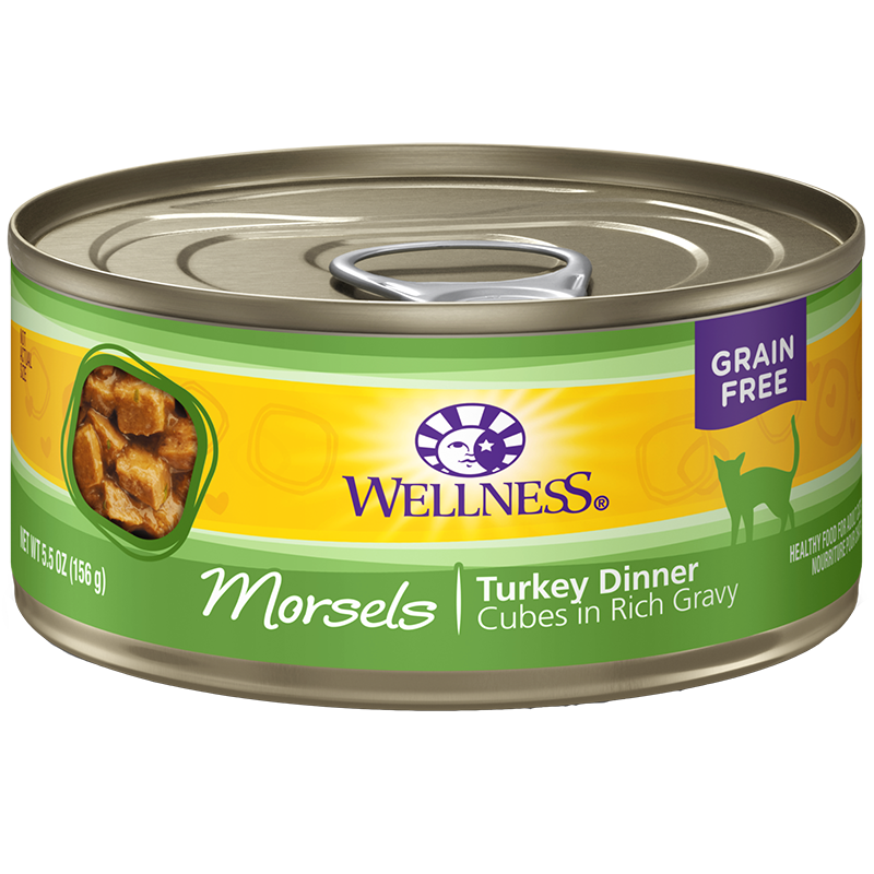 WELLNESS - HEALTHY FOOD FOR ADULT CATS - (Turkey Dinner) - 5.5oz
