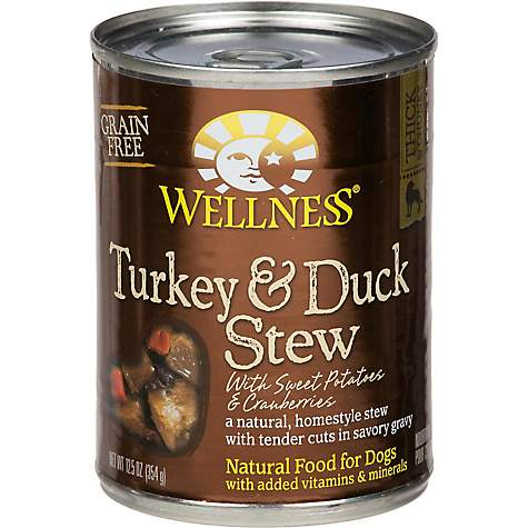 WELLNESS - TURKEY DUCK STEW - (/w Sweet Potatoes & Cranberries) - 12.5oz