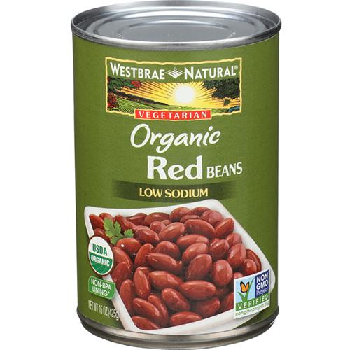 WESTBRAE NATURAL - ORGANIC RED BEANS LOW SODIUM - NON GMO - 15oz