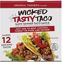 WICKED TASTY TACO - SLOW SIMMER TACO SAUCE - (Original Taqueria) - 2.7oz