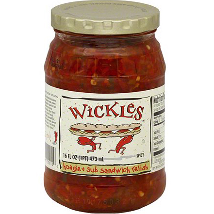 WICLES - HOAGIE + SUB SANDWICH RELISH - 16oz