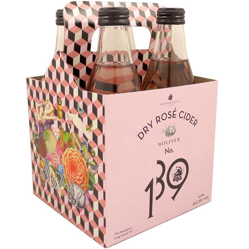 WOLFFER ESTATE - DRY ROSE CIDER No. 139 - (Bottle) - 12oz(4PK)