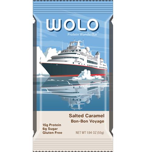WOLO - PROTEIN WANDER BAR - (Salted Caramel Bon-Bon Voyage)  - 1.94oz